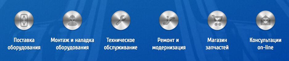 Кнопки услуги